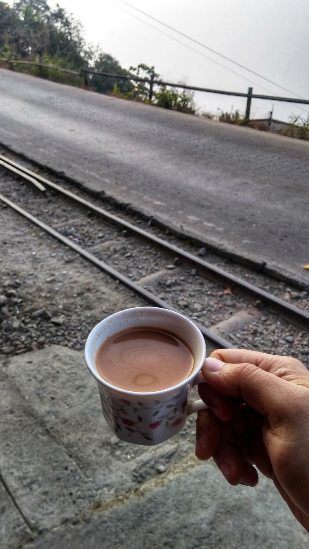 Tea and toy train tracks in Kurseong